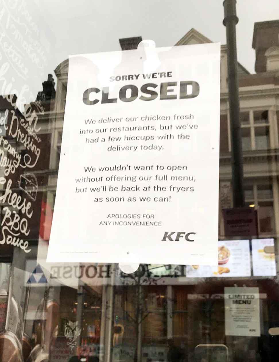 Harlesden KFC runs out of cluck