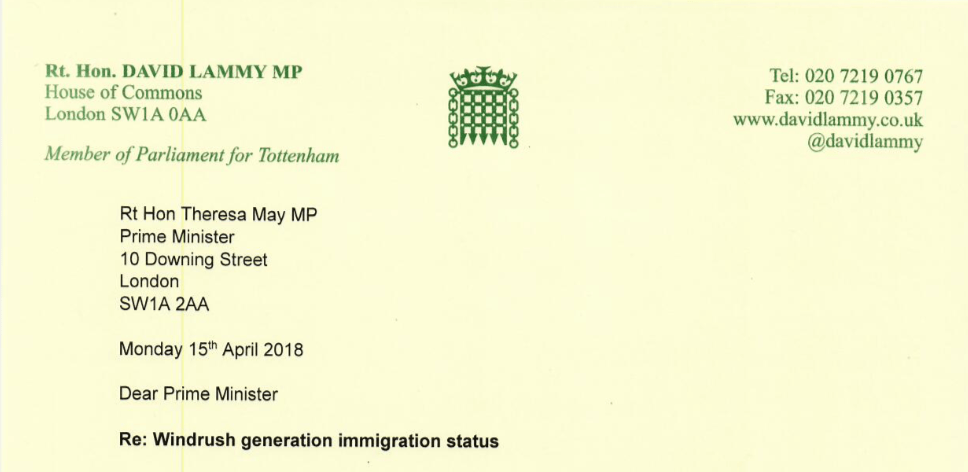 140 MPs sign letter in defense of longstanding Windrush generation